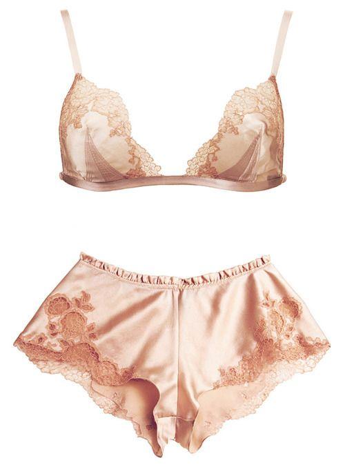 Pink Silk Lingerie