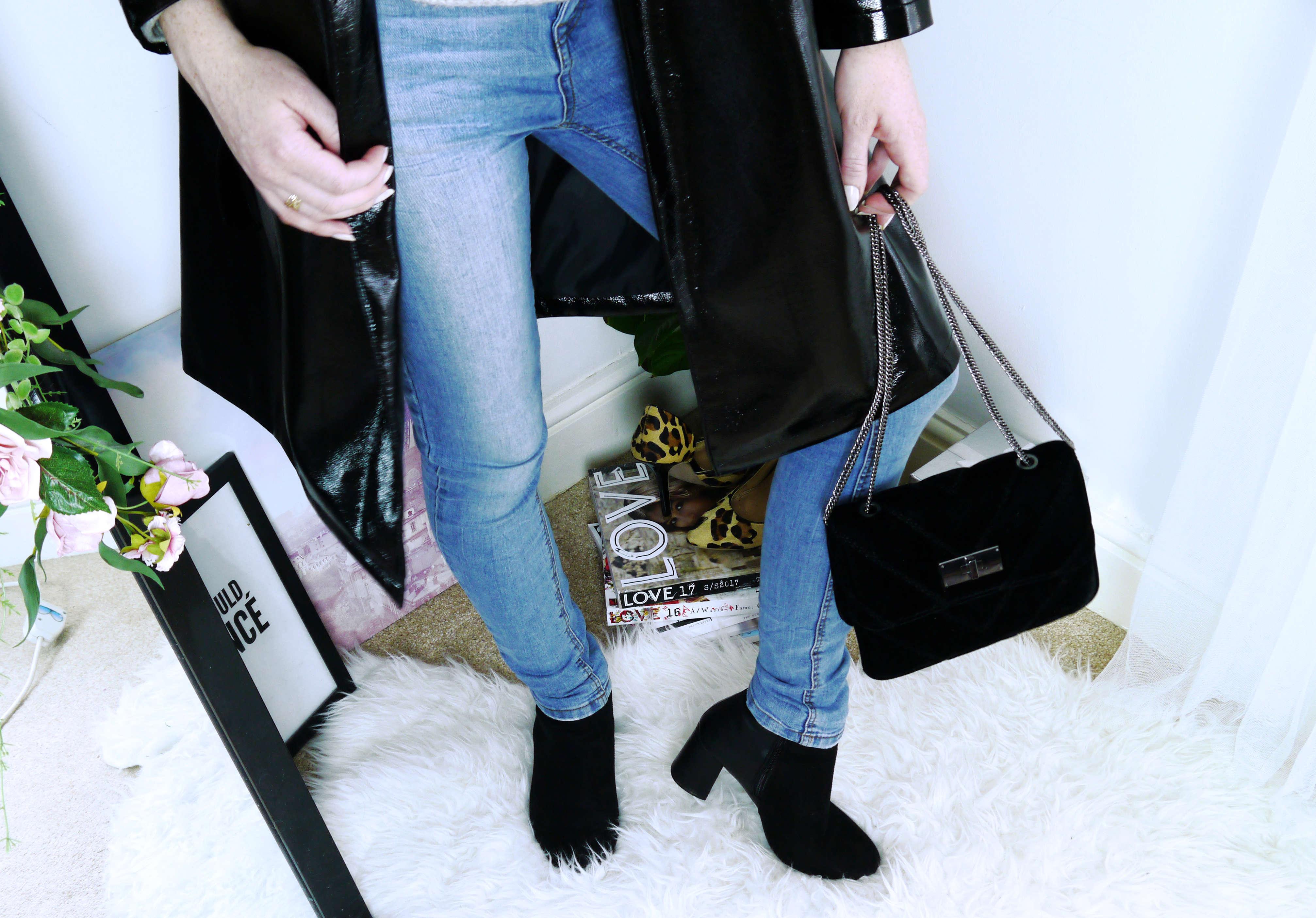 Vinyl Coat - Jeans + Boots