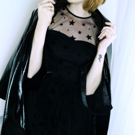 Vinyl Coat - Star Dress Outfit
